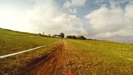 POV riding motocross enduro bike outdoor