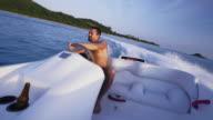 Riding speedboat 4K