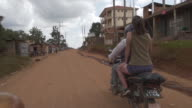 Riding through the Residential Streets in Uganda