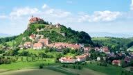 Riegersburg castle and market town - aerial view - source file cinema dng