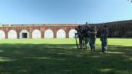 WS, Rifle demonstration, Fort Pulaski National Monument, Savannah, Georgia, USA