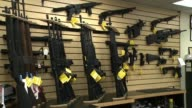 Rifles at a Gun Store on October 01 2013 in San Diego California