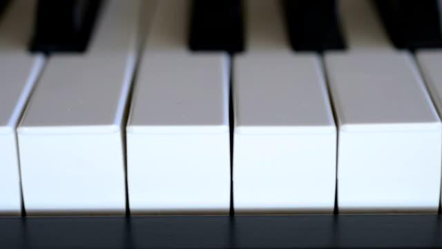 Destra a sinistra panoramica di un Piano della tastiera