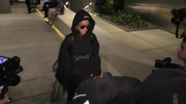Rihanna arriving at LAX Airport on October 06 2015 in Los Angeles California