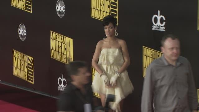 Rihanna at the 2008 American Music Awards at Los Angeles CA