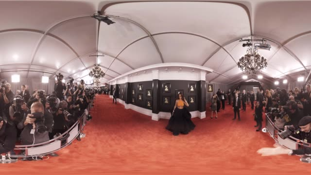 Rihanna at the 59th Annual Grammy Awards Arrivals
