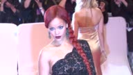 Rihanna at the 'Alexander McQueen Savage Beauty' Costume Institute Gala At The Metropolitan Museum Of Art at New York NY