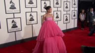 Rihanna at the The 57th Annual Grammy Awards Red Carpet at Staples Center on February 08 2015 in Los Angeles California
