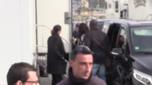 Rihanna entering a trailer on Dior shooting set for a clip or a commercial at Chateau de Versailles Paris France on Sunday March 9th 2015