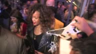 Rihanna greets fans at Staples Center in Los Angeles 01/27/12 in Celebrity Sightings in Los Angeles
