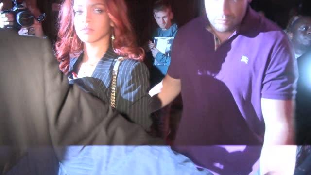Rihanna leaves Karim Benzema Chris Brown at Hooray Henry's in West Hollywood in Celebrity Sightings in Los Angeles