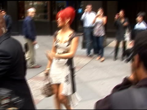 Rihanna surprises her fans as she leaves from her meeting in New York 04/29/11