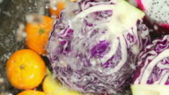 Rinsing Fruits And Vegetables : HD Slow motion
