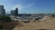 Drone shots of site BRAZIL Rio de Janeiro drone footage of Olympic sites under construction
