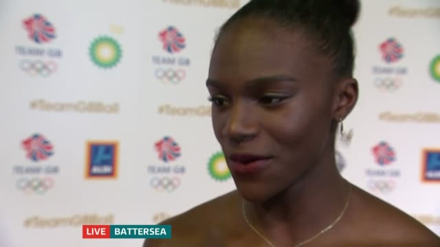 Great Britain Olympic stars attend ball in Battersea Dina AsherSmith LIVE interview continues SOT