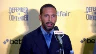 Rio Ferdinand takes up boxing career INT Rio Ferdinand press conference SOT