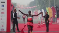 Rio gold medallist Eliud Kipchoge snatches the first place in the Delhi Half Marathon saying that pollution is not an issue and that he came to run...