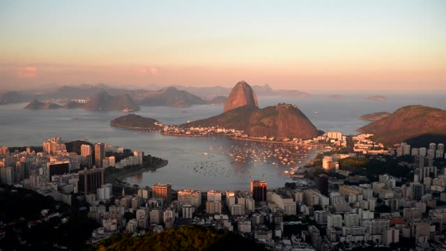 Rio Harbour At Sunset in Brazil on June 10th 2013
