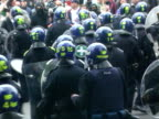 Riot police are deployed during the May Day anticapitalist demonstrations in central London