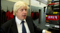 Riots Boris Johnson visits fire station in Stoke Newington Boris Johnson interview SOT On why he came to the fire station / wanted to thank...