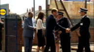 Duke and Duchess of Cambridge visit Birmingham community centre arrival ENGLAND West Midlands Birmingham Winson Green Summerfield Community Centre...