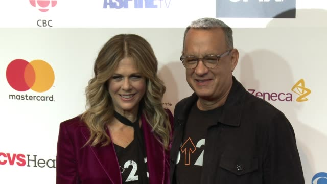 Rita Wilson and Tom Hanks at Stand Up To Cancer 2016 at Walt Disney Concert Hall on September 09 2016 in Los Angeles California