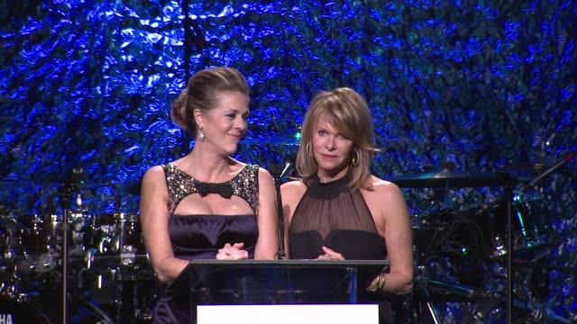 Rita Wilson Kate Capshaw at An Unforgettable Evening Benefiting The Entertainment Industry Foundation's Women's Cancer Research Fund on 4/18/12 in...