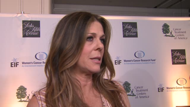 INTERVIEW Rita Wilson on what she is looking forward to celebrating tonight why she wanted to get involved in the fight against women's cancer and if...