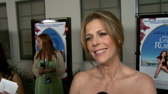 Rita Wilson on why she only put herself in a small part of the movie how important it was to have a Greek actor play the main guy if she is going to...