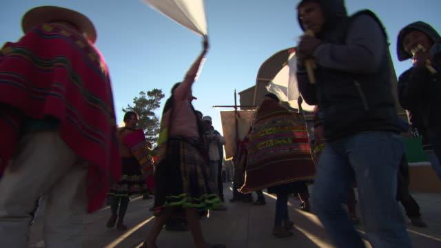 Ritual dancing at spring festival, Cala Cala, Bolivia