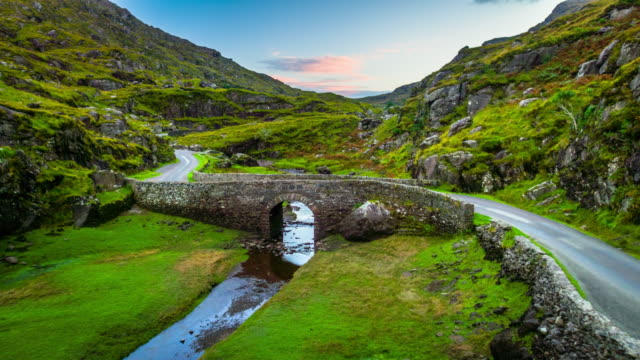 River and Stone bridge at the Gap of Dunloe in Ireland