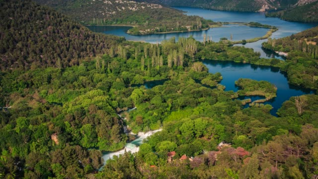 River and woodland in Krka National Park, Croatia