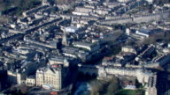 A river flows through the city of Bath. Available in HD.