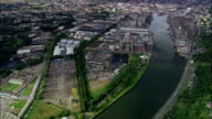 River Lee In Central Cork  - Aerial View - Munster, Ireland