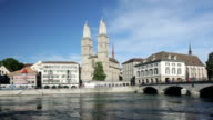 River Limmat and Grossmünster church