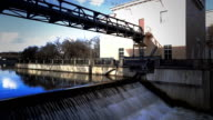 River locks on Yauza river in Moscow