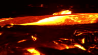 River of lava 15 Night Glowing Hot flow from Kilauea Active Volcano Puu Oo Vent Active Volcano Magma