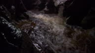 River rapids rush through a cave. Available in HD.