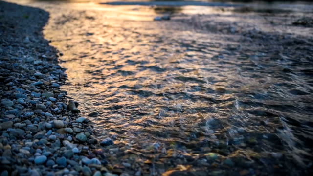 River stream at sunset