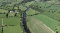 Fiume Suir e paesaggi-Vista aerea-Munster, South Tipperary, ripresa dall'elicottero, Video aerea, cineflex, inquadratura d'ambientazione, Irlanda