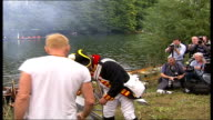 2007 Great River Race Sting helps fire small cannon on bankside to start race Sting interview SOT discusses boat race and concert at Twickenham...