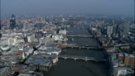 River Thames And Bridges  - Aerial View - England, Greater London, City of London, United Kingdom