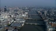 Themse und Brücken-Luftaufnahme-England, Großbezirk London, Stadt von London, Vereinigtes Königreich