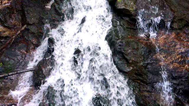 Riverfall Over Rocks Upstream