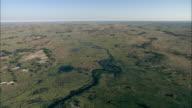 Rivers and waterways cut through the vast Okavango Delta in Botswana. Available in HD.