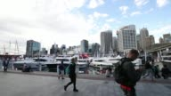 Riviera Australia Pty yachts sit on display at the company's berth during the Sydney International Boat Show in Sydney Australia on Thursday Aug 3...