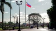 Rizal Monument Sidewalk Philippines