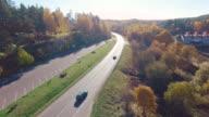 Road aerial shot