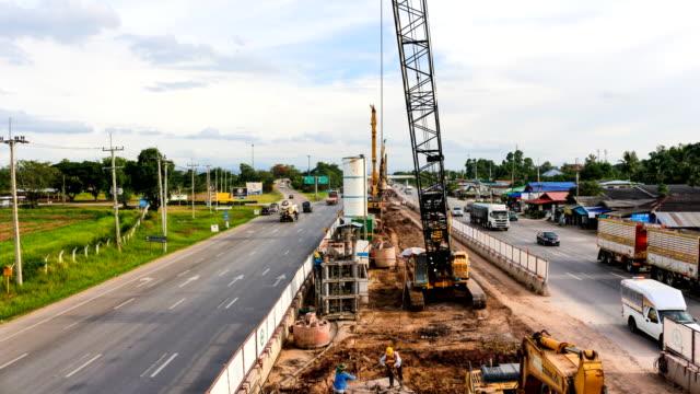 weg bouw time-lapse 4k