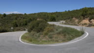 road in the mountains nearby Tudela